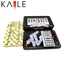 Domino da cor da marfim da fábrica de Kaile com caixa de lata