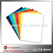 Flat Rubber Magnet of Colorful Sheet for Refrigerator