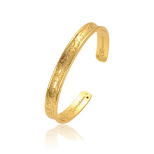 52252 gold bangles latest designs fashion 18k delicate white zircon stone flower gold plated jewelry bangle