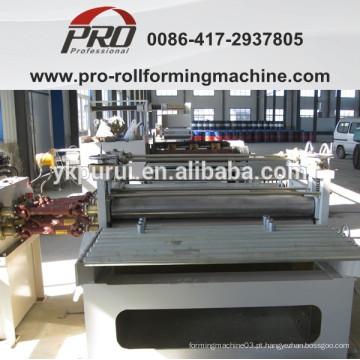 Dispositivo de desvio de achatamento e rectificação para máquina de fabricação de tambor de aço