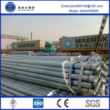 non alloy galvanized steel pipe with thread and coupling