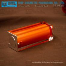 ZB-PK15 15ml Farbe anpassbare kristallklare Doppelschichten Quadrat luftlose Flasche für ätherische Öle
