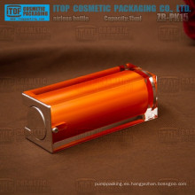 ZB-PK15 15ml color personalizables transparentes capas dobles cuadrados botella privada de aire de aceite esencial