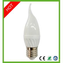 6W E14 E27 SMD LED vela bulbo luz