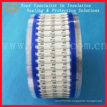 Low smoke heat shrink sleeve label