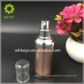 30ml High quality rose gold acrylic airless pump bottle round shape bottle