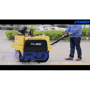 Good Price FYLJ-S600 Hydraulic Double Drum Vibratory Roller Compactor