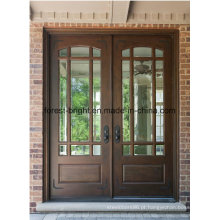 Estrutura de painel tradicional madeira maciça duplo principais portas