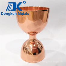 Copper Plating Wine Cup with Precision Casting