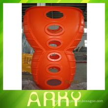 Peanut Barrels Of Amusement Equipment Aluminium Rotational Molding