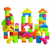 Bloco de espuma de EVA edifício colorida com impressão para crianças brinquedos de espuma