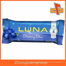 High quality center seal nutrition plastic chocolate bar packaging pouch bag