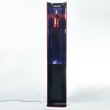OEM/ODM Factory Shop Floor Metal Wine Bottle Rack Holder LED Acrylic Display Stand for Wine