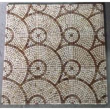 Mosaic Floor Tile, Round Pattern Marble Stone Mosaic