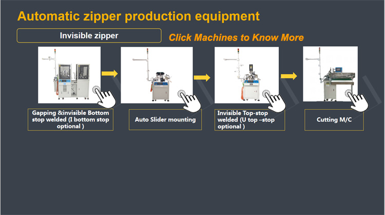 Invisible Zipper Gapping And Bottom Stop 2 In 1 Machine
