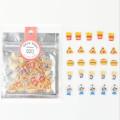 Mode Kawaii Transparent Mini Candy Vinyl Aufkleber Pack