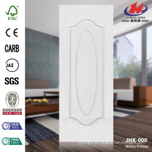 JHK-000 3MM HDF MDF 1 + 1 modelo de alta qualidade moldado América do Sul branco pele da porta de primer