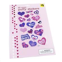 Hot sale China Design Sweet Heart Lovely Cartoon Die Cut Stickers,Children Decor Cartoon Puffy Sticker