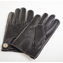 Мужская мода вне шить овчины кожаные перчатки для вождения (YKY5202-2)