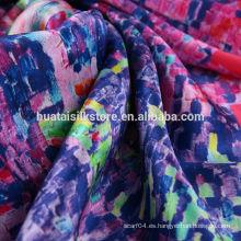 China fábrica de estampado de flores de tela de satén digital