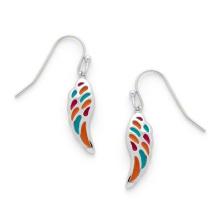 Bijoux en émail pour costumes Boucles d'oreilles en forme d'aile pour enfants (KE3502)