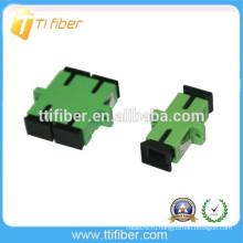 Зеленый цвет SC / APC Волоконно-оптический адаптер симплекс / дуплекс