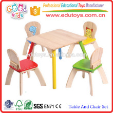 Beautifully Crafted Natural Wooden Children's Study Table And Chair Set