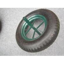 Roue en caoutchouc pneumatique de modèle de cosse de 16 pouces, roue pneumatique 4.00-8., Roue de brouette 4.80 / 4.00-8