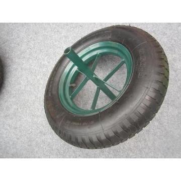 Пневматическое резиновое колесо с проушиной 16 дюймов, пневматическое колесо 4,00-8, колесо тачки 4,80 / 4,00-8