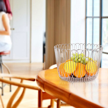 Luxury Packaging Gift Wicker Metal Fruit Vegetable Basket