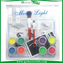 Getbetterlife 2014 nueva moda 8Colors temporales Glitter Tattoo Kit