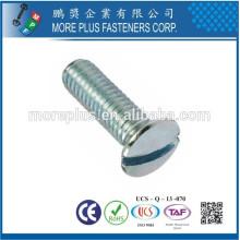 Hecho en Taiwán Acero al carbono DIN964 M2.5X6 ranurado unidad levantada cabeza avellanada Máquinas Tornillos