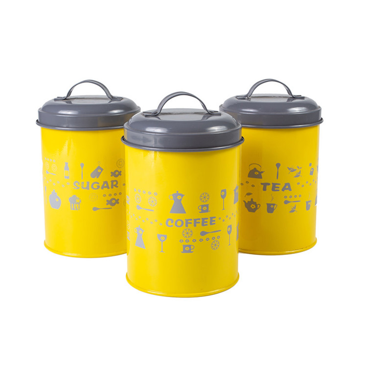 Yellow Metal Kitchen Food Storage