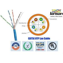 Câble lan de Shenzhen Lansan CAT5E UTP 305m câble 4P * 24AWG 0.50mm BC pass didactique