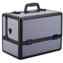 Caja de cosméticos profesional de la caja de maquillaje de aleación de aluminio