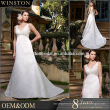 New arrival product wholesale Beautiful Fashion queen bridal wedding dress