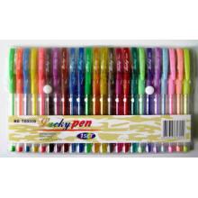 24 couleurs de Gel PAILLETE d'encre de stylo (5804)