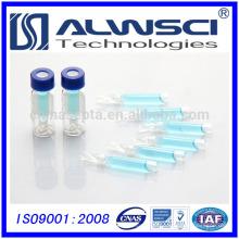 Inserção gratuita de 250 unidades de vidro para frasco para injectáveis de vidro de 4 a 425 e frasco de vidro de 2 ml.