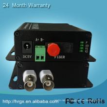 Оптоволоконное оборудование, 2-канальный цифровой конвертер системы видеонаблюдения на IP конвертер