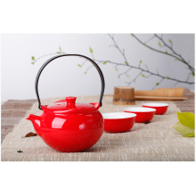 Lantern type tea sets cups with teapot