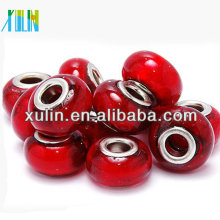 8*14mm european style smooth red glaze beads