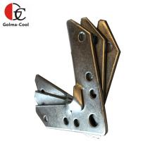 Coin de conduit de système de CVC tdc Coin de bride de conduit de tôle galvanisée