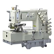 Máquina de costura de ponto duplo de cadeia plana com 4 agulhas (para a frente da camisa)