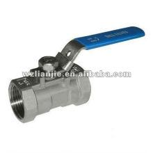 1000WOG 1 pièce Stainles acier robinet à tournant sphérique avec dispositif de verrouillage