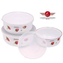 Boîte de rangement pour aliments avec bouchon de glace pour émail émaillé
