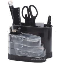Plastic Desk Rotation Stationery Organizer in Black Color408