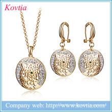 Роскошные ювелирные изделия устанавливают ювелирные изделия головки леопарда способа dubai способа установленные женщины африки и комплекты ювелирных изделий секса животного