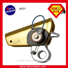 Industrial Protective Equipemnt Aluminum Rope Grab Fall Arrest With Eye