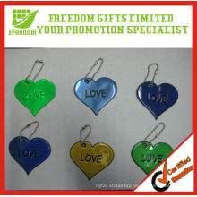 Heart Shaped Reflective Promotional Keychain