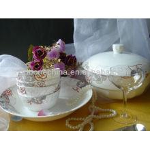 Mesa de porcelana de cerámica de forma redonda para el restaurante del hotel
